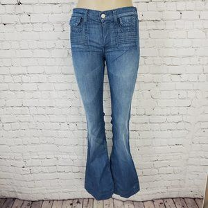 7 For All Mankind Flared Mid Rise Jeans 26